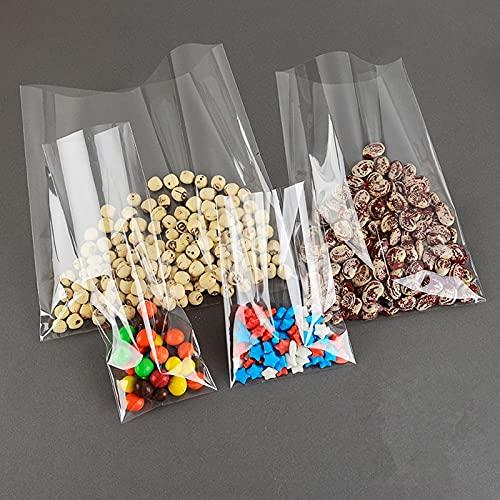 Polyzip Sacchetti plastica Trasparenti Spessi e Durevole per Immagazzinaggio e Conservazione Prodotti, Molto Resistenti e Impermeabili, Multi Uso (4x6)