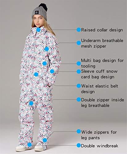Hbao Winter Hoodie Damen Snow Workwear wasserdichte Sport Damen Ski Jumpsuit Outdoor Warme Damen Snowwear Kleidung Damenbekleidung (Size : Medium)