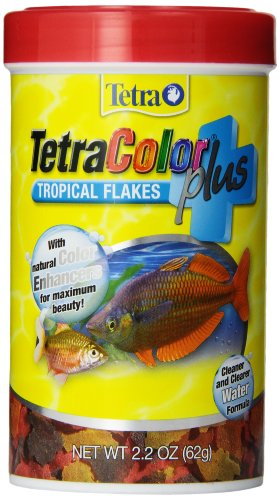 TetraColor Plus Tropical Flakes 2.2 Ounces, With Natural Color Enhancers (77250)