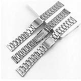 ZXF Correa Reloj 14/12/16/18/20 / 22mm DICTAC Reloj De Acero...