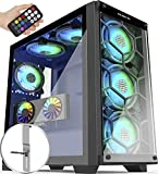 Best Full Tower Cases - MUSETEX 5×140mm & 1×120mm ARGB Fans Voice Remote Review