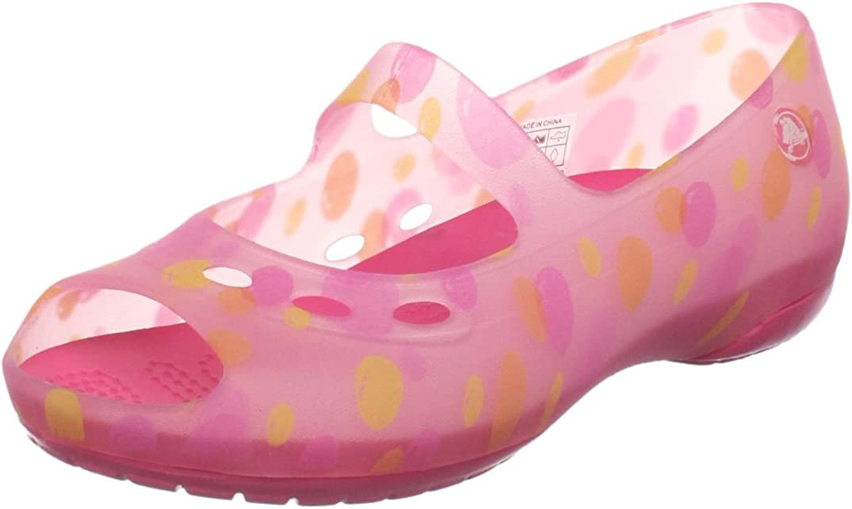 Crocs Girls' Carlie Bubbles Flat