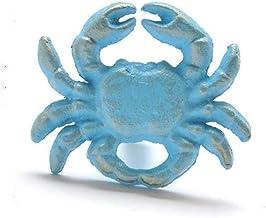 PYouo-kast handgrepen mediterrane blauw vintage ijzer kunst krab zeester shell deurknop trekken, doek haak outdoor haak ou...