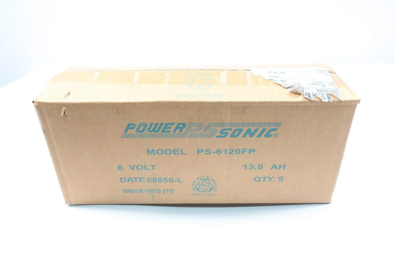 Quantity limited Box of 5 POWER SONIC PS-6120FP Battery 6V Outlet sale feature 13AH