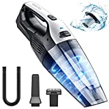 Holife Handheld Vacuum Cleaner Cordless, 7kpa Portable Hand Vacuum with Replaceable Battery and Stainless Steel Filter Quick Charge Tech for Pet, Hair, Home, Office, Car Cleaning