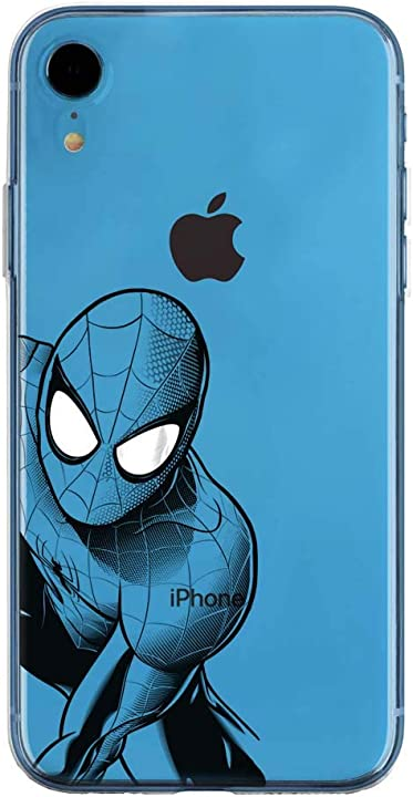 Cover spiderman marvel dc black hero collection speciale iphone 7, 8, x FRBLKHERO522AP