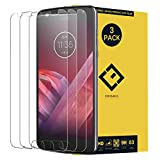 CENTAURUS Compatible with Motorola Moto Z2 Play Glass Screen Protector,(3 Packs) Anti-Glare Ultra-Thin Clear 9H Hardness Tempered Glass Protective Film (5.5 inch)