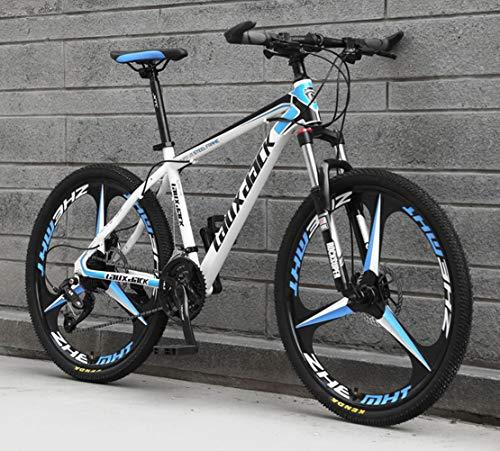 JFSKD Bicicleta de montaña para Adultos 26 Pulgadas 21/24/27/30 Disco de Aceite de Velocidad una Rueda Bicicleta de Velocidad Fuera de Carretera para Estudiantes Masculinos