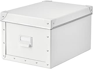 IKEA Fjalla Storage Box With lid White 603.956.83 Size 9 ¾x14 ¼x7 ¾
