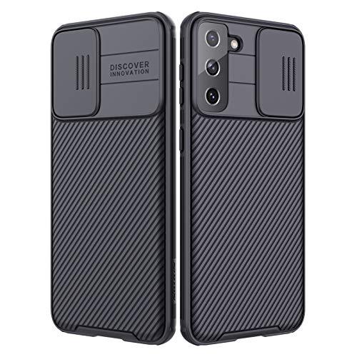 Nillkin CamShield Pro Series kompatibel mit Samsung Galaxy S21 Plus Hülle, stilvolle Schutzhülle mit Schiebekamera-Abdeckung Ultra Dünn Premium Bumper Hybrid Handyhülle für S21 Plus (Schwarz)
