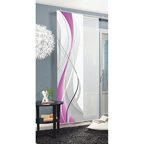 Home Fashion Carlisle Schiebevorhang, Polyester, Violett, 245X60 cm