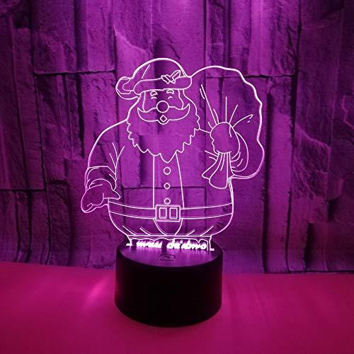 Lámpara de techo Lámpara linda santa claus led lámpara degradado colorido gradiente 3D estereoscópico táctil remoto usb noche luz de noche creativo decorativo escritorio cumpleaños navidad regalo 20 *