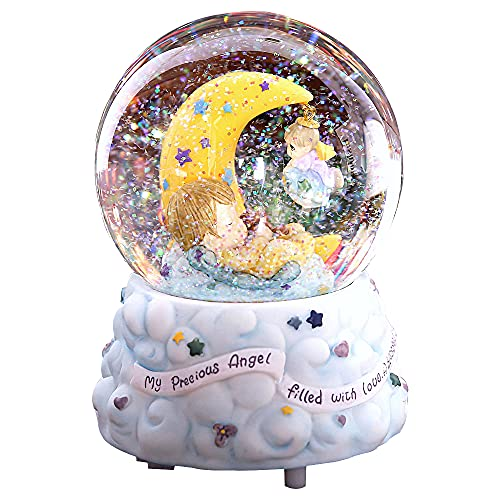XAENG Caja Música, Caja Música Luminosa La Música La Bola Cristal, Color Luminoso Color Luminoso Color La Nieve Bola Cristal, Regalo Cumpleaños para Hombres/Mujeres/Niños/Niñas