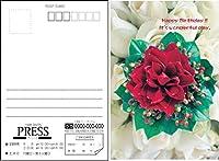 バースデーポストカード 選べるデザイン 宛名面オーダー印刷 私製はがき (100枚セット)