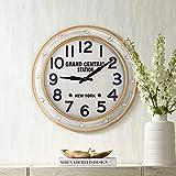 River Parks Studio Grand Central Station 24' Railroad Train Wall Clock