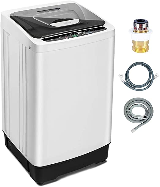 Compact Washer with 11lbs Capacity 10 Water Levels Dorm 8 Wash ...
