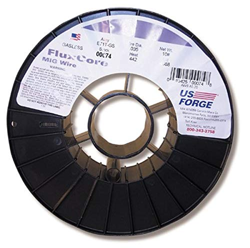 US Forge Welding Flux Cored MIG Wire .035 10-Pound Spool #00074