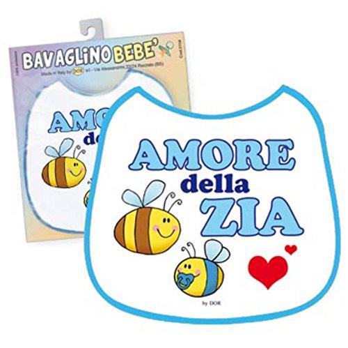BAVAGLINO Bimbo - Amore della Zia - Gadget Stampato Idea Regalo Nascita