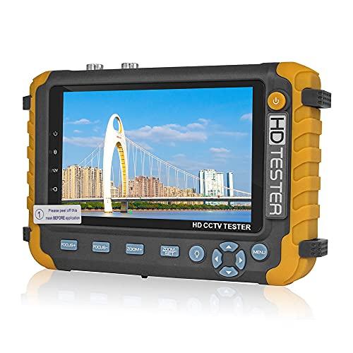 5 Inch CCTV Tester Monitor for TVI AHD CVI Analog Camera, VGA / HDMI input DC12 V Output, Security Camera Tester