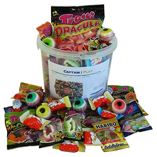 Horror Halloween Party Bucket mit schaurigen Süßigkeiten, 1er Pack (1 x 1kg)