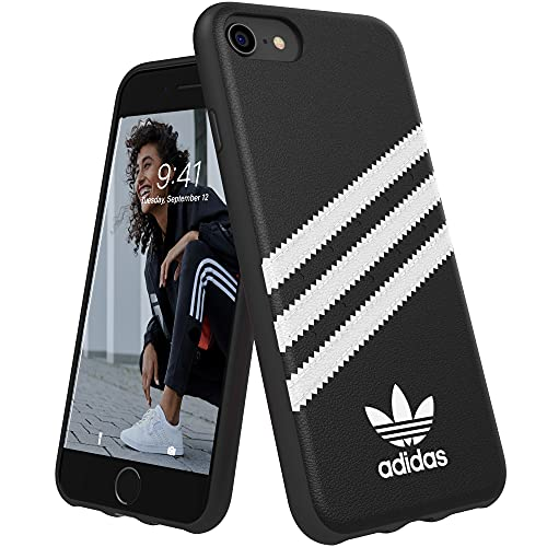 Cover Adidas MOULDED CASE PU FW 18 NERO/BIANCO COMPATIBILE CON IPHONE 6/6S/7/8