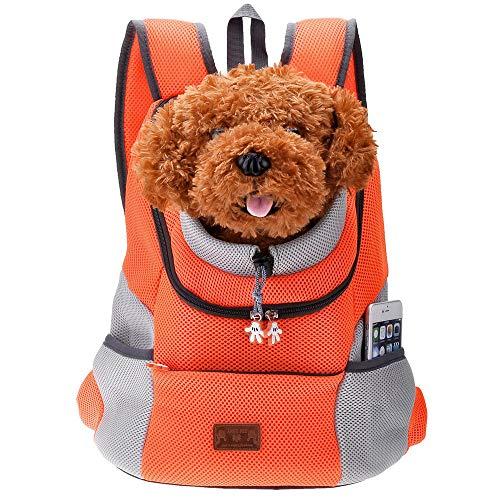 PETEMOO Mascota Portador Mochila Bolsa para los Perros de los Gatos Perrito Bolsa de Titular Viajar Bolsas de Hombro Aerolínea Aprobada para la Bicicleta de Senderismo al Aire Libre
