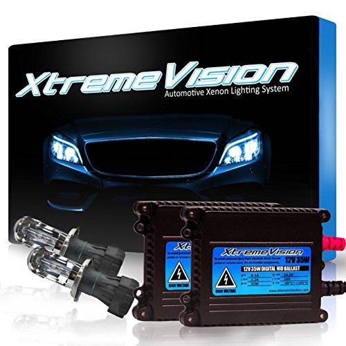 Xtremevision DC 35W Xenon HID Lights with Premium Slim Ballast - Bi-Xenon H4 / 9003 6000K - 6K Light...