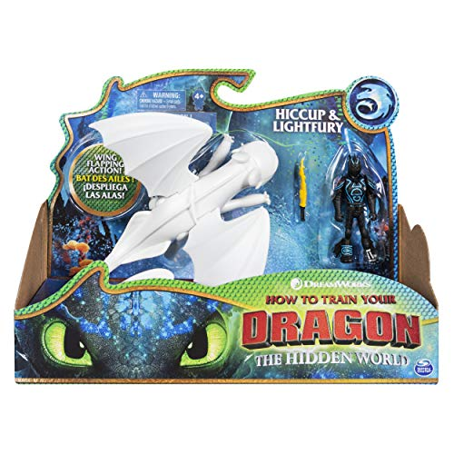 Dragons 6052266 - Movie Line - Dragon & Vikings - Tagschatten und Hicks (Solid), Actionfiguren Drache & Wikinger, Drachenzähmen leicht gemacht 3, Die geheime Welt