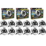 BH Disk Lights 4-LED Solar-powered Auto On/Off Outdoor Lighting As...
