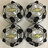 Achoc Set of 4 Chrome Chevy Silverado 6 Lug 1500 Center Caps 16' 17' Steel Wheels 15067579