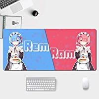 ゼロから始める异世界生活マウスパッド、電子競技専用マウスパッド、高級感マウスパッド、周辺機器 アニメ漫画 ゲーム マ マウスパッド、防水性と滑り止めマウスパッド 800 * 300 * 3MM / 900 * 400 * 3MM-イメージA_900*400*3mm