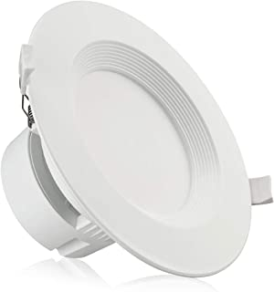 TORCHSTAR 6 Inch LED Recessed Downlight with Junction Box, 9W (80W Eqv.) Dimmable LED Ceiling Light Fixture, IC-Rated & Air Tight, Wet Location, 5000K Daylight, UL-Listed, 5 Years Warranty