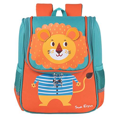 Niños Mochilas - Niños Niñas Bolsa para la Escuela Dibujos Animados Animales Mochila Escuela Primaria Kindergarten Mochilas para 3-7 Años