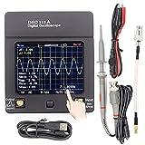 JINKEBIN Osciloscopio Pantalla portátil DSO112A TFT Mini Digital Osciloscopio Toque Pantalla de Contacto portátil USB Portátil Interfaz de osciloscopio 2MHZ 5MSPS (Color : DSO 112A 1clip Probe)