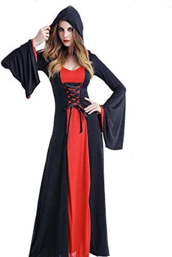 Shisky Costume Cosplay Femme, Cosplay de Vampire Jupe Longue Cour HalFaibleeen Costume Costume sorcière