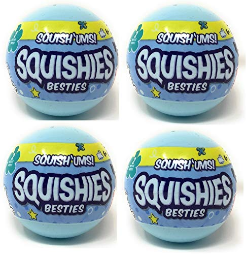 Bulls i Toy Squish'ums Squishies Besties Lot of 4 Blind Pack Capsules
