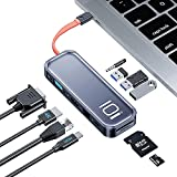 ROCK Docking Station, 10 Ports USB C Hub Aluminium...