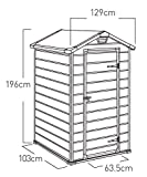 Zoom IMG-1 keter casetta manor 4x3 grigia