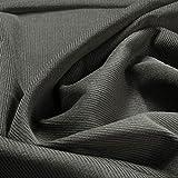 Stoff am Stück Stoff Baumwolle Cord grau Baumwollstoff