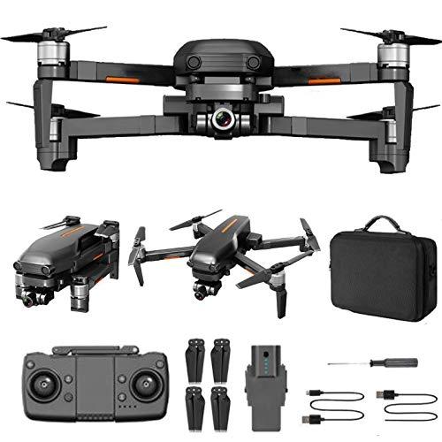 ZHCJH Drone para niños de 8 a 12 años con cámara 4k visión Nocturna RC Quadcopter con GPS Auto Return Follow Me Drone portátil (2 baterías + Estuche de Transporte)