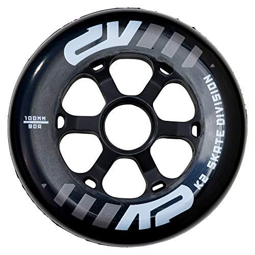 K2 Inline Skates Rollenset 100 mm Urban Wheel Ersatzrollen - Schwarz - 4 Rollen - 30B3015.1.1.1SIZ