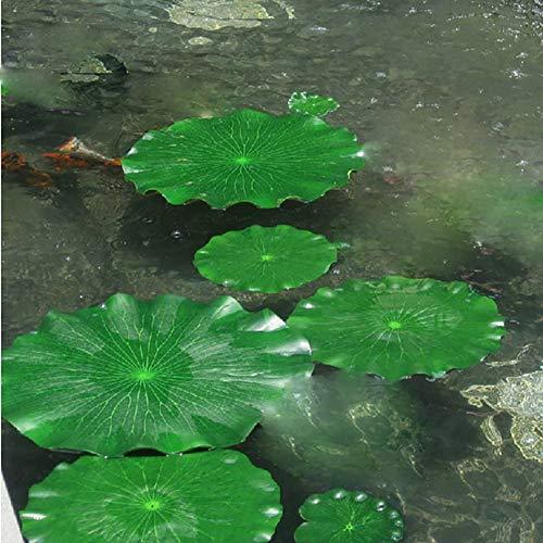 Lot de 10 plantes artificielles flottantes pour réservoir d'eau - Pour mariage, maison, étang, piscine, décoration de jardin