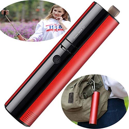 Felaaca Altavoces Altavoz Bluetooth Portátil Selfie Stick Power Bank Tarjeta TF Manos Libres para Viajes, Fiestas y campamentos