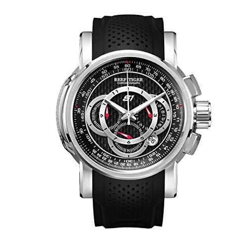 REEF TIGER Herren Uhr analog Quarzwerk mit Kautschuk Armband RGA3063-YBB
