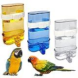 Dispensador de Agua para Loros 3 Piezas Comedero De Pájaros Automático Jaula Bebedero Automático para Pájaros Automático Alimentador De Pájaros Comederos Automáticos para Pájaros Cockatiel