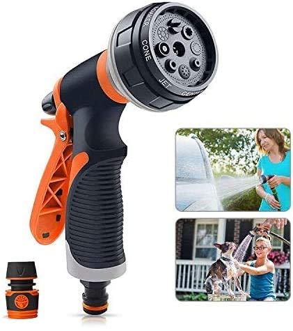 WPLHH Yotame - Boquilla para manguera de jardín, 8 pistolas de pulverización de alta presión para lavado de coches y mascotas, riego de césped y jardín/acera