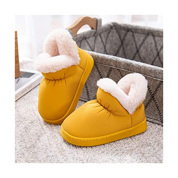 shevalues Little Girls Boys Winter Slippers Furry Ankle Home Shoes (Toddler, Little Kid, 6-13.5 M)