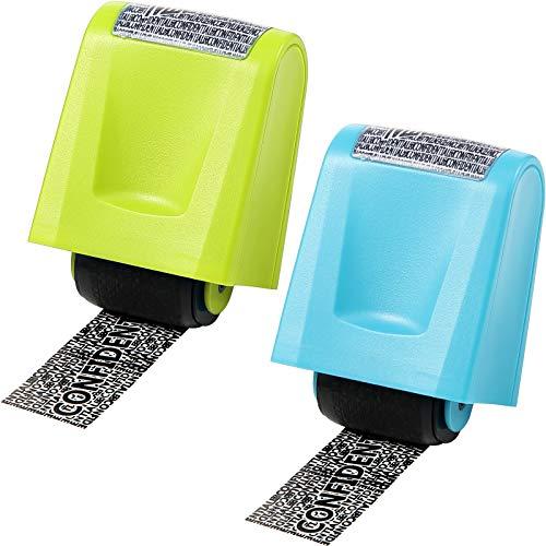 2 Piezas Sellos de Protección contra Robo de Identificación Sello de Rodillo de Seguridad Ancho (Verde y Azul, Medio)