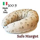 Safe Margot Cuscino Gravidanza Allattamento Multifunzione con Imbottitura Fiocchi di Fibra + Federa...