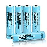 Recargable AAA 350 mAh ICR 10440 3,7 V Li-Ion batería 5 Piezas